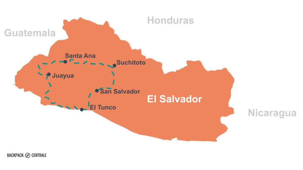 Route backpacken in El Salvador