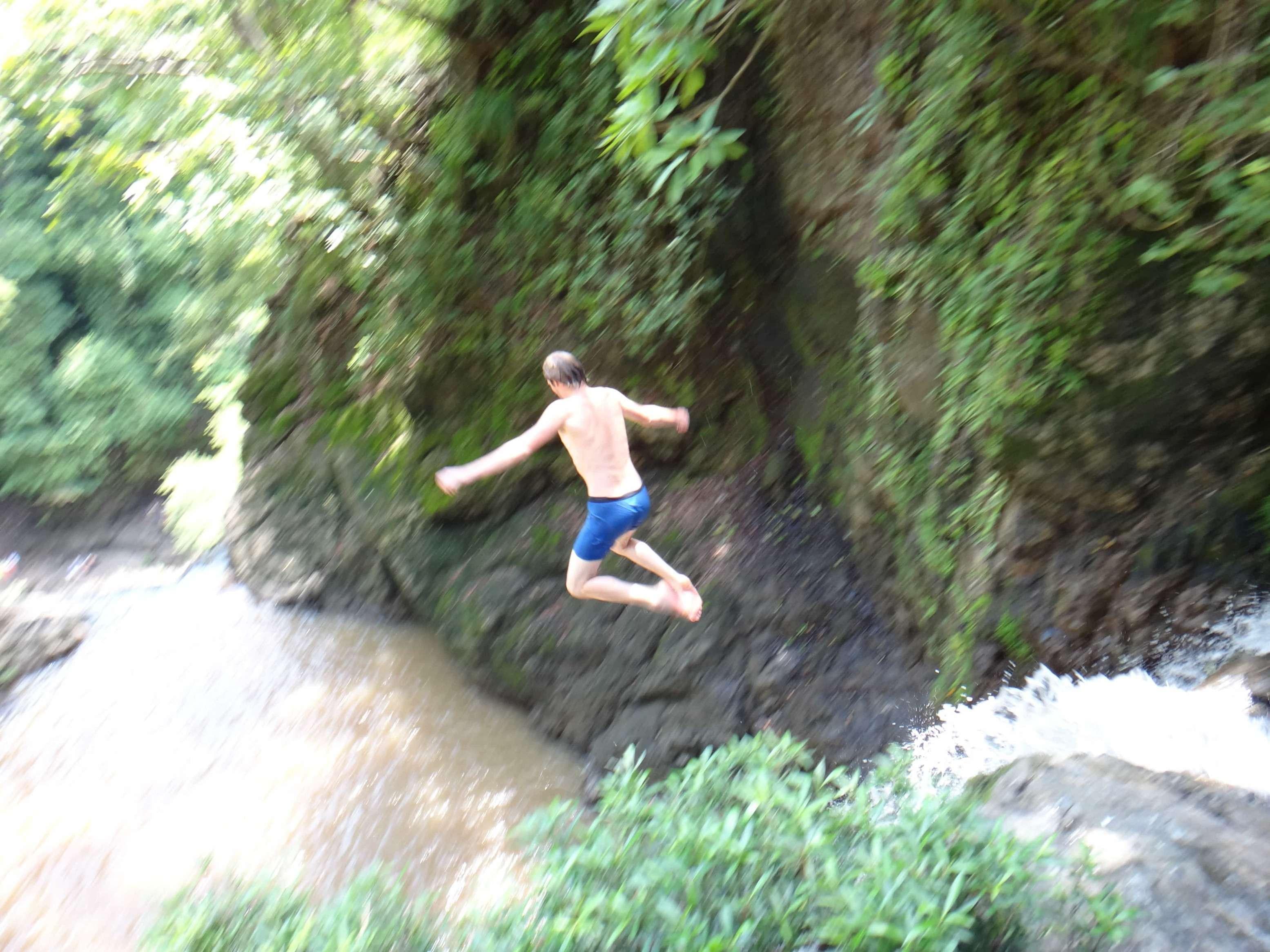 Montezuma waterval, jump