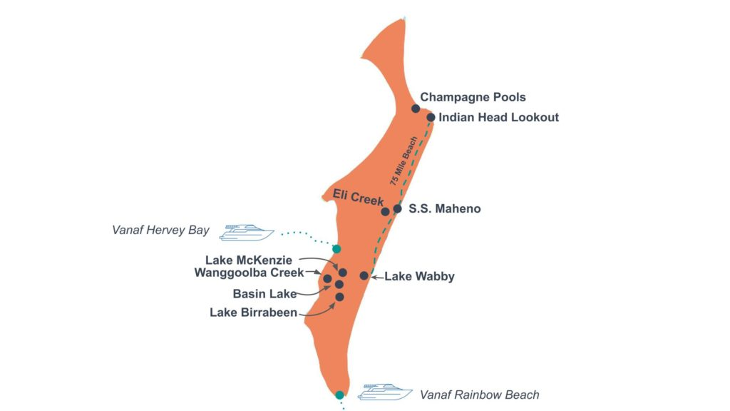 Route Fraser Island
