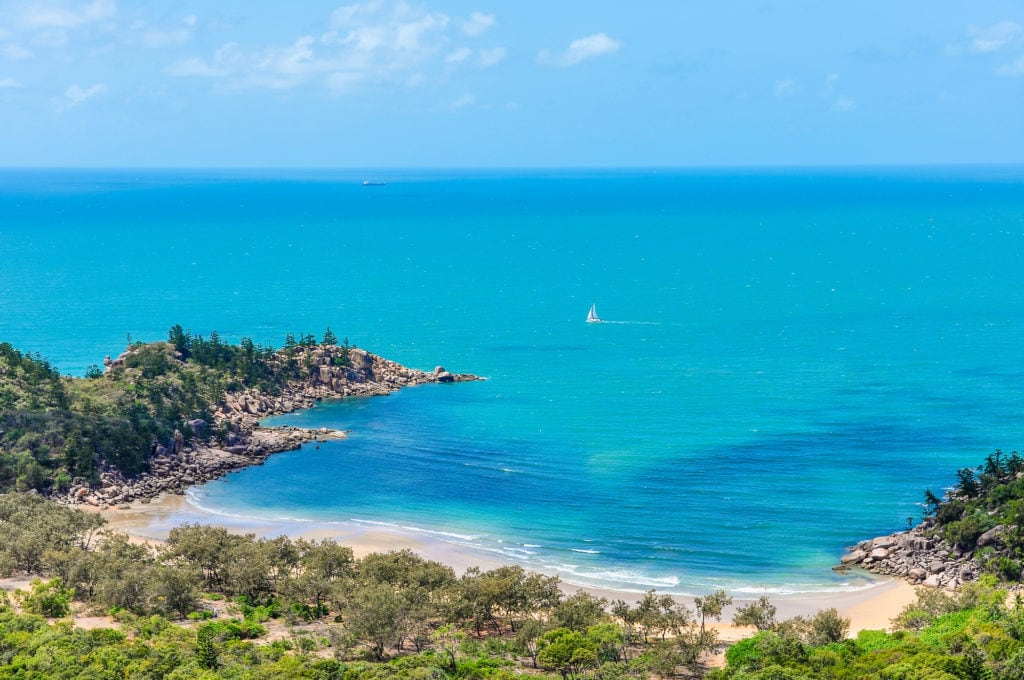 Close view of Florence Bay in Magnetic Island, Australia